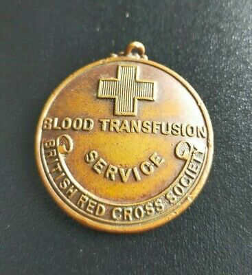 £4.99 • Buy Vintage Red Cross Blood Transfusion Service Medal For 10 Transfusions