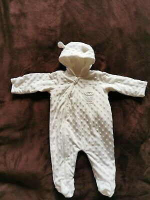£1.70 • Buy Unisex Baby Pramsuit 0-3 Months Excellent Condition