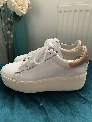 £35 • Buy ASH Womens Sneakers,platform,rose Gold Effect,white,leather,size 39,uk-6