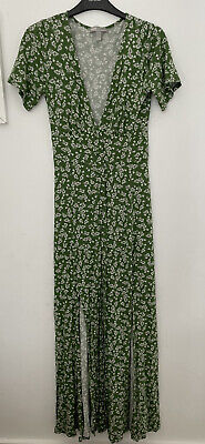 £15 • Buy ASOS Green Jersey Floral Button Down Maxi Dress Uk Size 8