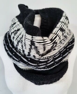 £12.99 • Buy NWT GAP Womens Knitted Scarf Tube DARK GREY Lambswool Knit Winter Neck Snood