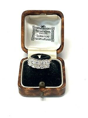 £3.20 • Buy Brilliant Vintage Art Deco Style 9ct Yellow Gold 375 CZ Ring Size J #1308