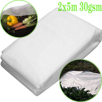 £8.99 • Buy GARDEN FLEECE PLANT PROTECTION WHITE HORTICULTURAL COVER FROST HEAVY DUTY 2Mx5M