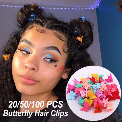 £3.21 • Buy Hair Clips Mixed Color 20/50/100Pcs Hairpins Clamps Girls Mini Butterfly Kids UK
