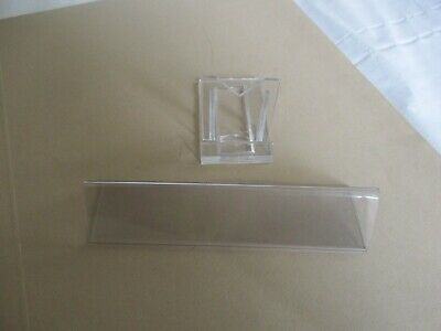 £5.99 • Buy Job Lot Acrylic /plastic Display Holder Label Price Name Card Tag Shop Stands