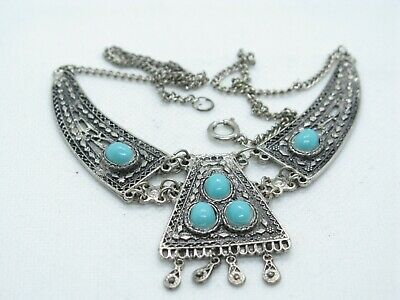 £2.99 • Buy Vintage Native American Turquoise Necklace