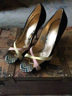 £19.99 • Buy Missoni Toe Stiletto Butterfly Shoes Retail £290 Made In Italy Uk 7.5-8