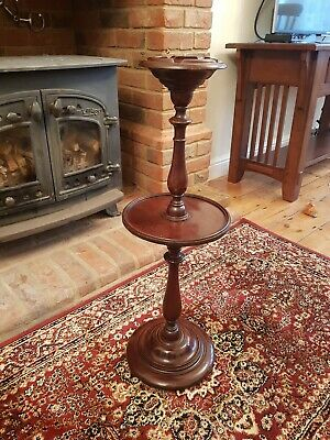 £24.99 • Buy Vintage Antique Tall Wooden Ashtray & Drinks Stand