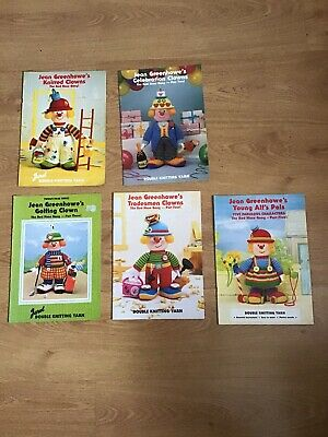 £10.99 • Buy Bundle Job Lot Jean Greenhowe's Knitted Clowns - Red Nose Gang Patterns X 5
