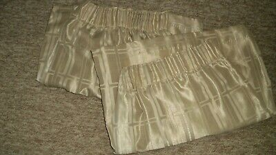 £5.80 • Buy Pair Montgomery Curtains. Lined. Pencil Pleat. Beige. Used A Few Months Only.