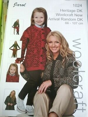 £0.99 • Buy Jarol Knitting Pattern 1024. Mother And Daughter Cardigans. DK. 26 - 42  Chest