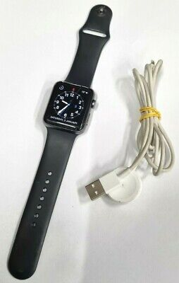AU50 • Buy Apple Watch Series 3 42mm GPS Black Band A1859 CRACKED SCREEN -CHECK DESCRIPTION