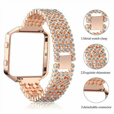 AU26.65 • Buy For Fitbit Blaze Smart Watch Replacement Band Case Bling Rhinestone Wrist Strap