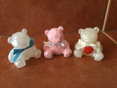 £10.50 • Buy Small Handmade Resin Teddy Bear Ornament New Baby Gift Nordic PERSONALISED