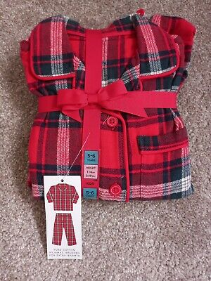 £6.50 • Buy Girls Marks And Spencers Brushed Cotton Christmas Pyjamas Age 5-6 Years Bnwt