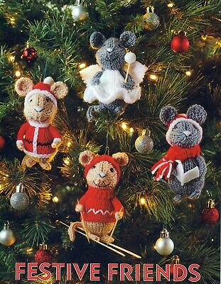 £1.99 • Buy  Knitting Pattern Christmas Mice  Decorations Dk Colour Printed On Heavy Paper