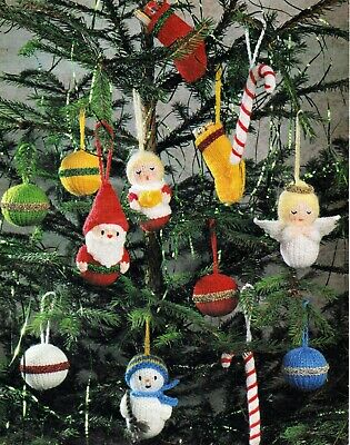 £1.99 • Buy  Knitting Pattern Christmas Tree Decorations Dk Colour Printed On Heavy Paper