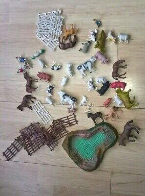 £5.50 • Buy Vintage Plastic Farm Animals Made In Hong Kong  Fences