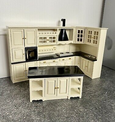 £19.99 • Buy 1/12 Dolls House Fitted Kitchen With Island Complete