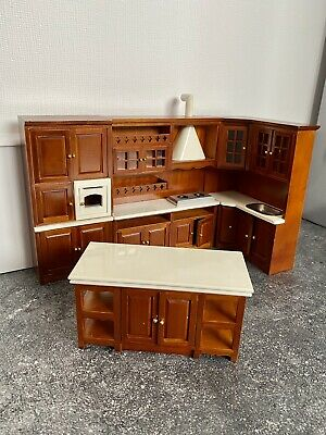 £19.99 • Buy 1/12 Dolls House Fitted Kitchen With Island - Complete