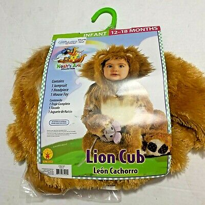 £16.72 • Buy Infant Lion Cub Costume 6 12 Months NEW Halloween Noah's Ark Collection