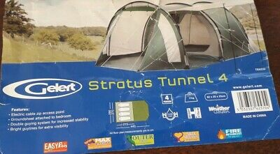 £450 • Buy Gelert Stratus 4 Festival Tent Beds Chairs Table Stove All You Need & More