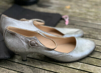 £18 • Buy REPETTO PARIS SILVER MARY JANE DANCE SHOES LOW HEEL 39.5 Super Soft Leather