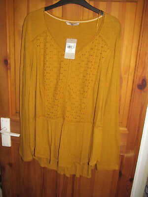 £2.99 • Buy Mustard Pattern Top Size 20 From Tu New With Tags