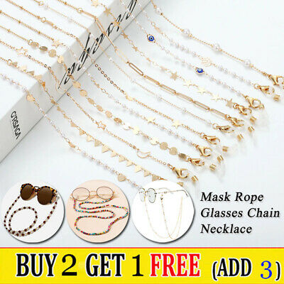 AU2.99 • Buy Eye Glasses Sunglasses Spectacles Chain Holder Neck Rope Cord Lanyard Necklace