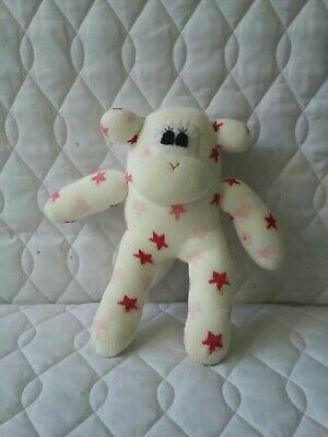 £9.99 • Buy Sock Monkey Pinky Birthday Gift Hand Made Soft Toy Pink And White Spots New