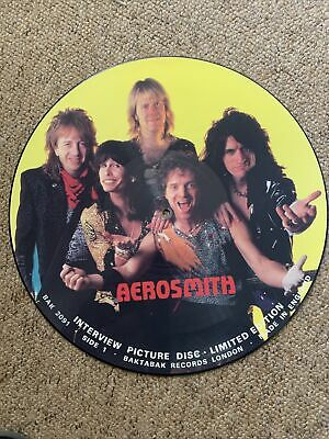 """£16.99 • Buy Aerosmith-interview-12""""Picture Pic Disc-limited-BAKTABAK-metal"""