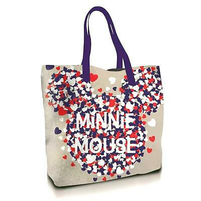 £5.99 • Buy Disney Minnie Mouse Canvas Tote Bag Red & Blue Hearts
