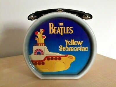 £14.99 • Buy Official Licensed Beatles Yellow Submarine Drum Shaped Metal Lunchbox/Tote Bag
