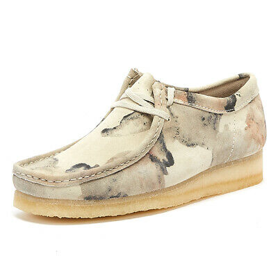 £110 • Buy Clarks Wallabee Mens Off White Camo Lace Up Casual Shoes