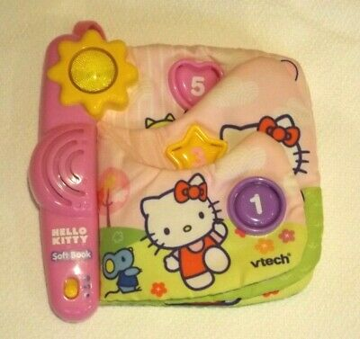 £4.99 • Buy Vtech Baby Hello Kitty Soft Book With Lights Sounds For Cot Pram Pushcair Buggy