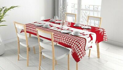 AU25.99 • Buy Christmas Pattern Rectangle Tablecloth Dining Home Cover Table Cloth AU
