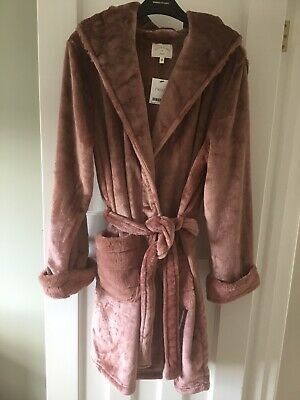 £27.99 • Buy BNWT NEXT Pink Faux Fur Trim Robe/ Dressing Gown Soft Size 8-10 Small Regular