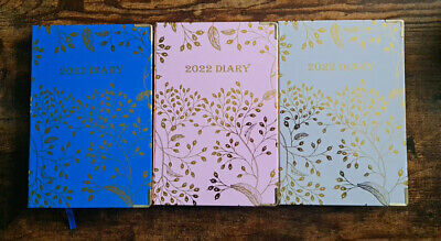 £8.99 • Buy EJRange 2022 Diary A5 Day To Page - Address Book, Daily Planner, Foil Design