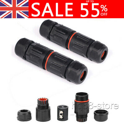 £2.95 • Buy 2 Pole Core Joint IP67 Waterproof Outdoor Electrical Cable Wire Connector UK