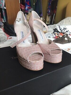 £100 • Buy Terry De Havilland Shoes Lena Nude Pink Snakeskin 4 RRP £295 Sold Out