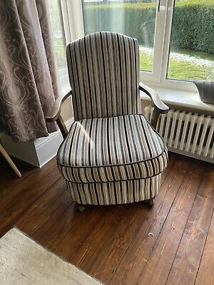 £130 • Buy Restored And Re-upholstered Vintage Fabric Lounge Chair - Excellent Condition