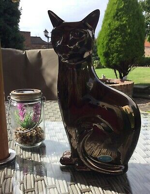 £34 • Buy Poole Pottery Stunning Cat Precious Range Perfect Condition 29x15cm