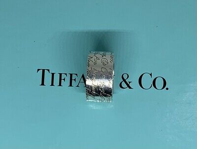 £134.99 • Buy Authentic Tiffany & Co Fifth Avenue Notes Wide Solid  Silver Band Ring, Sz 6