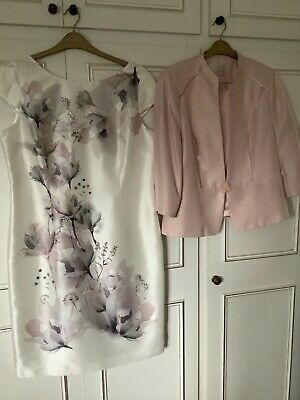 £65 • Buy Jacques Vert Size 18 Dress And Jacket Outfit Wedding/Occasion