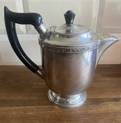 £30 • Buy Antique SILVER PLATED Teapot TEA POT By VINERS Of SHEFFIELD Alpha Plate BAKELITE
