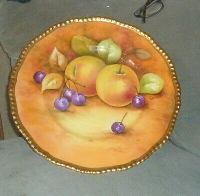 £49.99 • Buy Rare Signed Keith Hancock Hand Painted 10 1/4 Inch Coalport Plate  Of Fruit