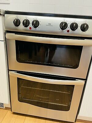 £140 • Buy New Word Cooker Double Oven Stand Electric / Ceramic Hob Silver