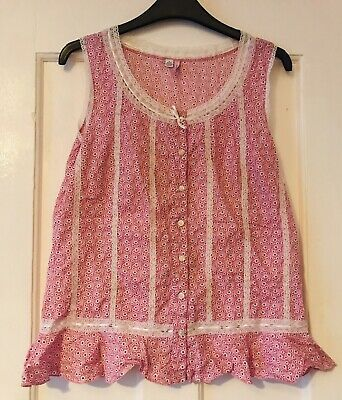 £2 • Buy FAIRY DUST Pink Vest Top. Size SMALL