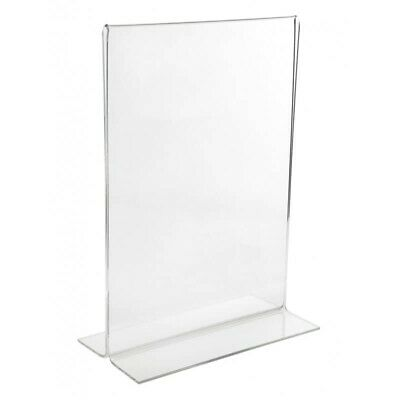 £12.70 • Buy 10x A4 Poster Sign Perspex Mounts - Double Sided Table Sign Holder