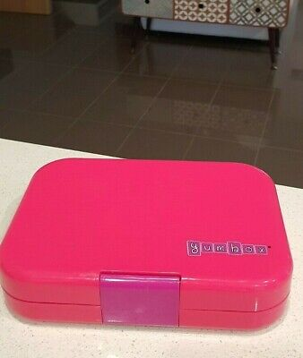 AU20 • Buy 6 Compartment  Benton Yumbox. Pink. IN EXCELLENT CONDOITION.